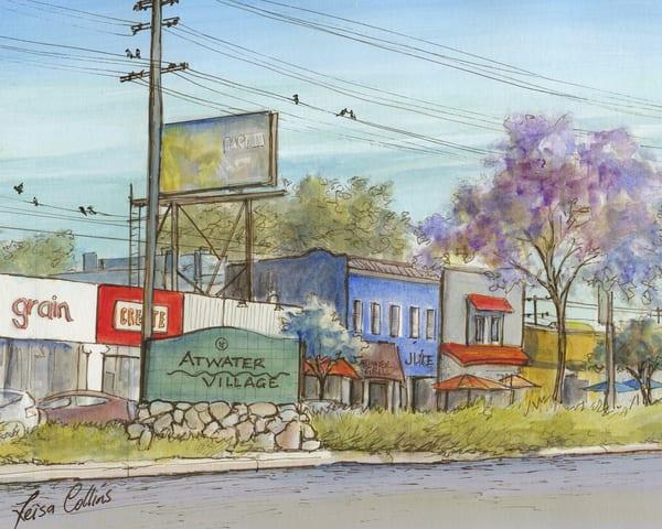 Atwater Village, Los Angeles Main Street Art | Leisa Collins Art