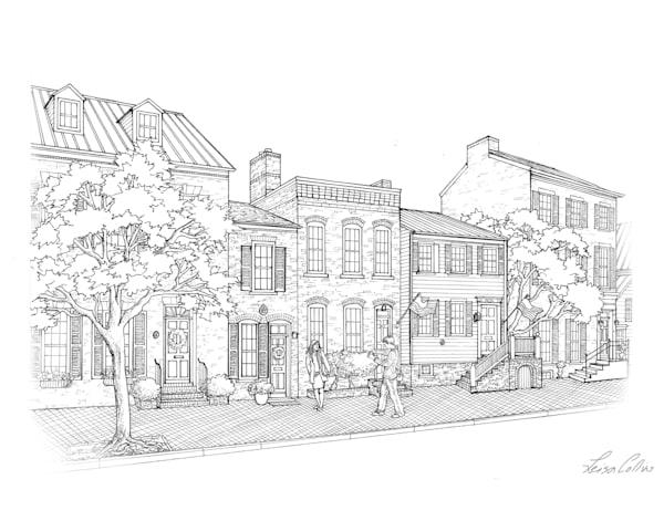 Old Town Alexandria, Virginia Queen Street Art | Leisa Collins Art