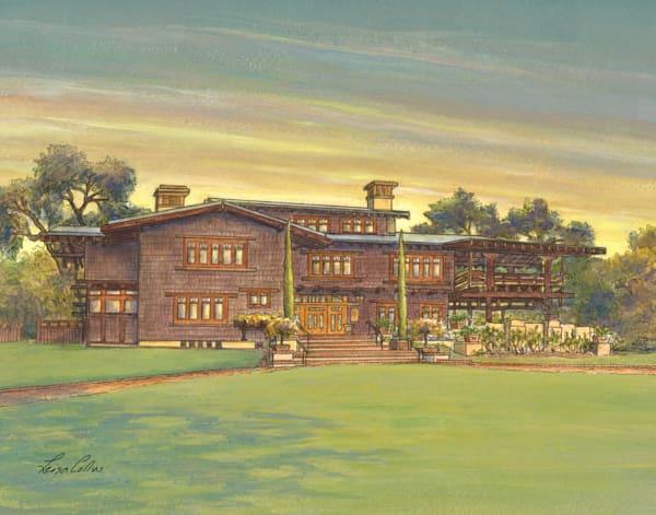 Gamble House Craftsman, Pasadena California Art | Leisa Collins Art