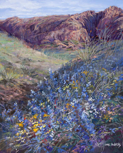 Lindy Cook Severns Art | Bursting WIth Bluebonnets, signed edition