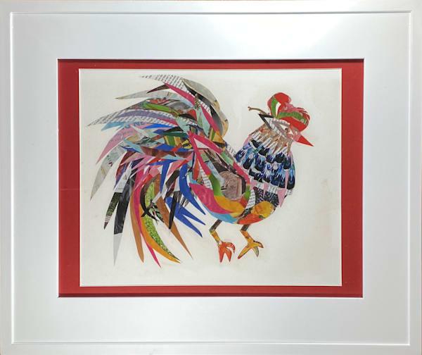 Framed Rooster Art | Luanne C Brown
