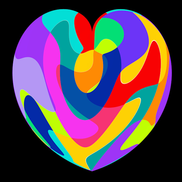Colorful Heart Art | karenihirsch