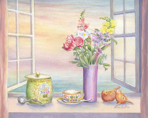 Tea With A View Still Life Art | Leisa Collins Art