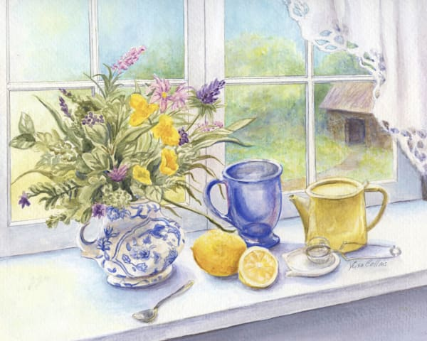 Morning Tea With Lemon Still Life Art | Leisa Collins Art