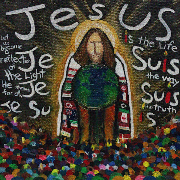 Jesus is the life, the way and the truth fine art print.