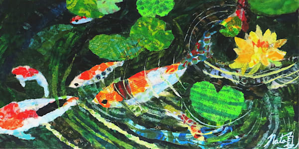 The Koi Pond Art | Poppyfish Studio