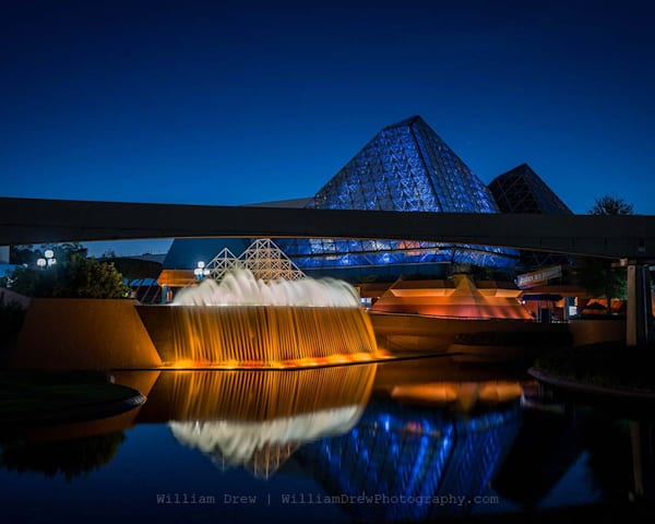 Blue Imagination Reflections   Epcot Wall Mural Photography Art | William Drew Photography