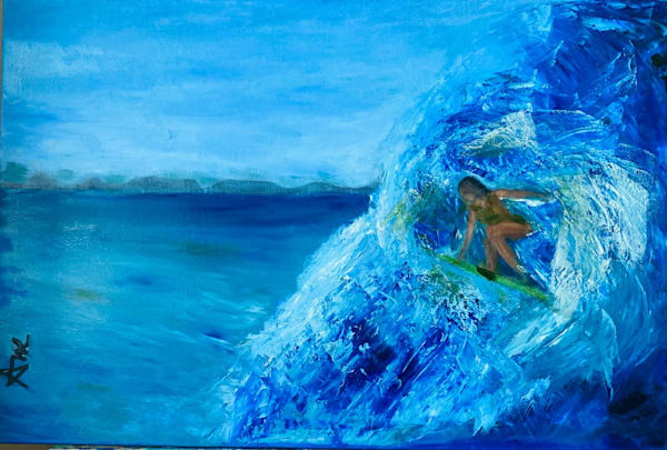 Abstract Surfer - Wahine