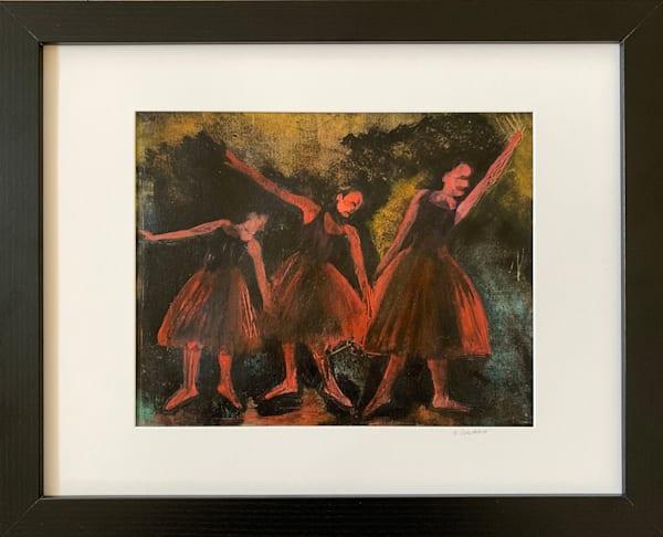 """Red Dancers"" Stylized Ballet Dancers à la Degas Original Artwork by Emily Gilman Beezley"