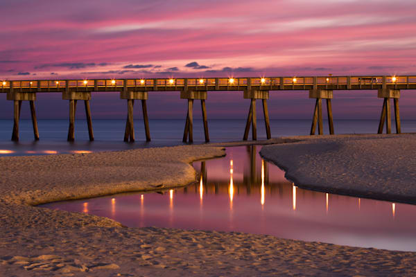 Pier At Dusk Photography Art | Silver Sun Photography