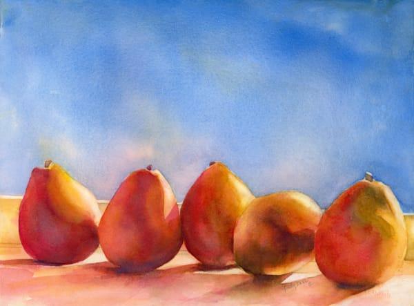 Pear Line Up Art | ArtByPattyKane