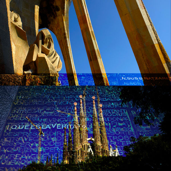 Collage - Sagrada Familia - Spire & Passion square