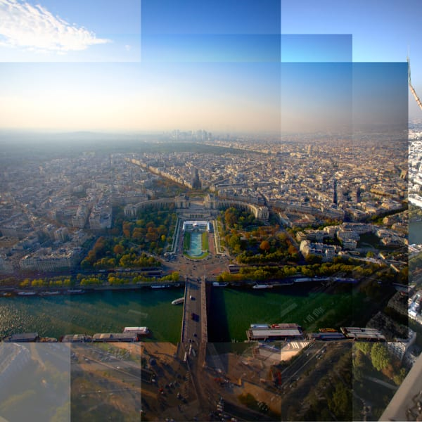 Collage - Trocadero  Aerial - Paris, France
