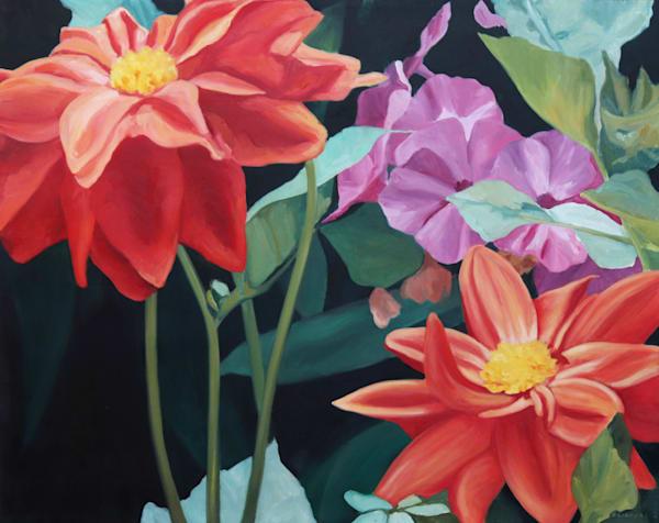 Garden Flowers   Original Painting Art | Lidfors Art Studio