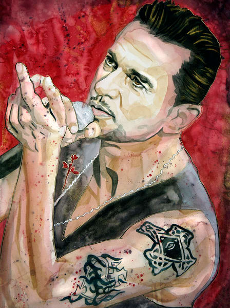 Dave Gahan Lf   Depeche Mode Art | William K. Stidham - heART Art