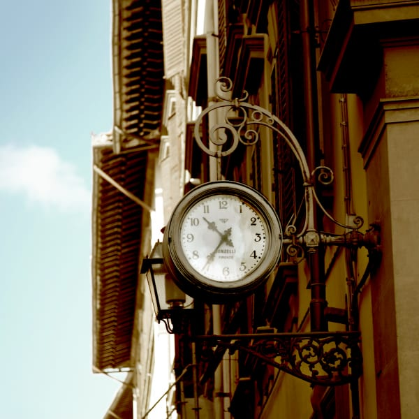 Shop for Florence, Italy Photographic Art | Clock detail
