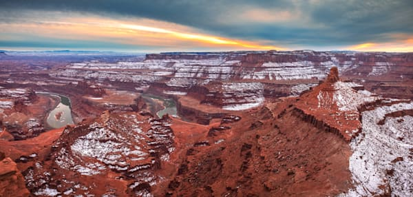 dead horse point winter panorama