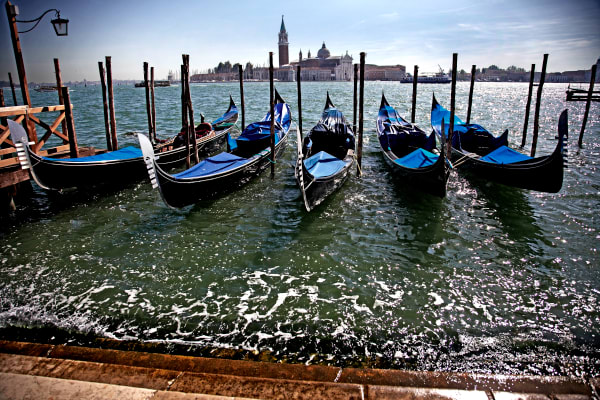 Shop for Venice, Italy Photographic Art | Gondolas at Piazza San Marco
