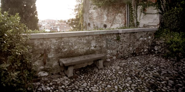 Shop for Photographic Art of Udine, Italy | Solitary Bench