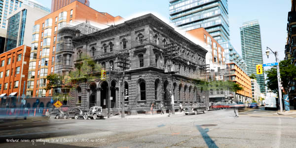 Past Present - Bank Of Toronto Original Location