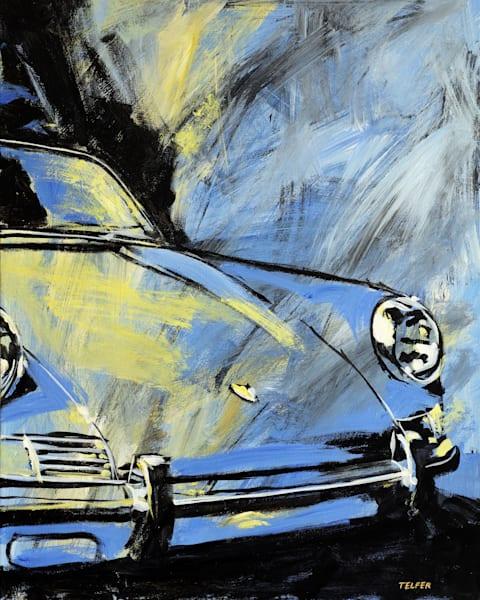 Blue Yellow Porsche 911 Limited Edition Art | Telfer Design, Inc.