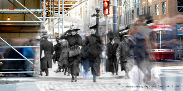Past Present - Crossing Yonge at King Sts in Style