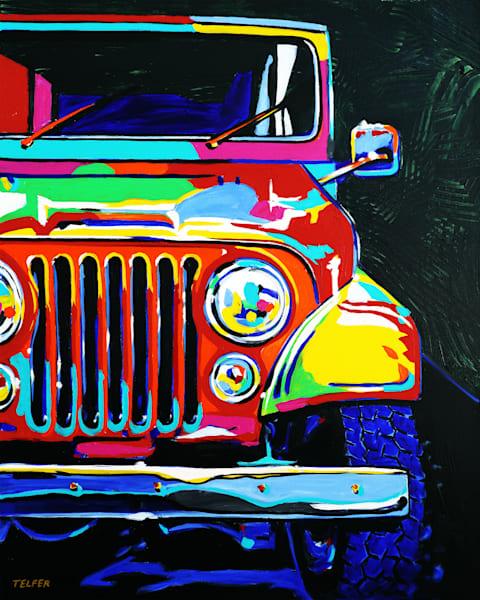 High 5 Jeep Limited Edition Print Art | Telfer Design, Inc.