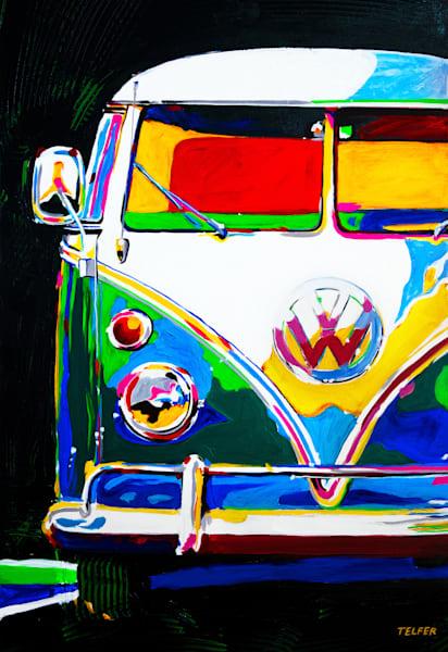 Vw Bus Fun Club Limited Edition Print Art | Telfer Design, Inc.