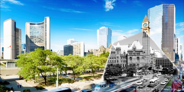 Past Present - Old & New City Hall