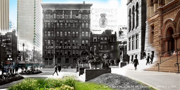 Past Present - Old City Hall pre-Cenotaph