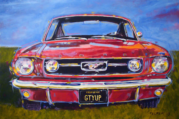 Gtyup Mustang Limited Edition Print Art | Telfer Design, Inc.
