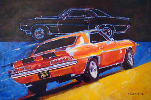 69 Camaro Limited Edition Print Art | Telfer Design, Inc.