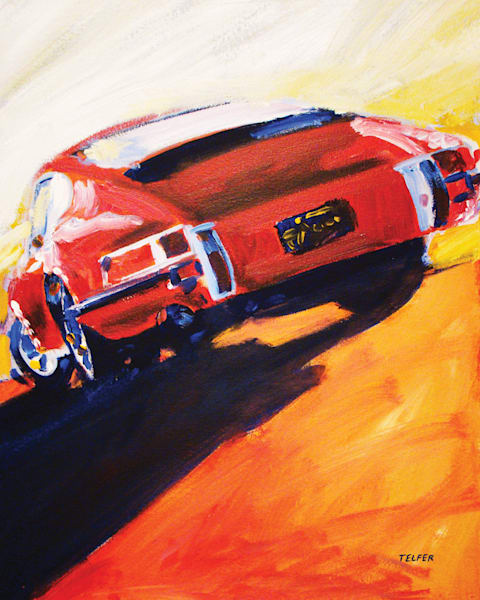 Red Early Porsche 911 Limited Edition Print Art | Telfer Design, Inc.