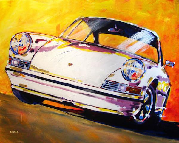 Early White 911 Limited Edition Art Print Art | Telfer Design, Inc.