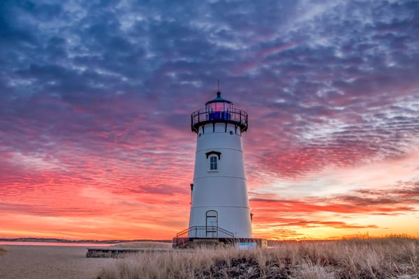 Edgartown Light Winter Clouds Art | Michael Blanchard Inspirational Photography - Crossroads Gallery