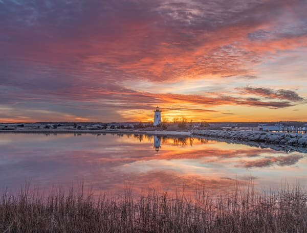 Edgartown Light Winter Reflections Art | Michael Blanchard Inspirational Photography - Crossroads Gallery