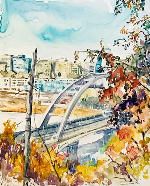 Walterdale Bridge Art | Karen Bishop Artist