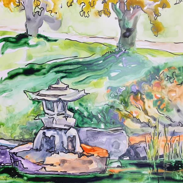 Japanese Garden. Art | Karen Bishop Artist