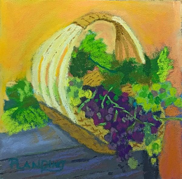 Harvesting Grapes | Original Pastel