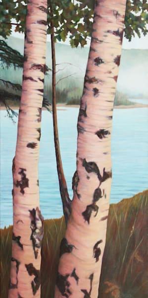 Norwegian Birch Pair   Original Painting Art | Lidfors Art Studio