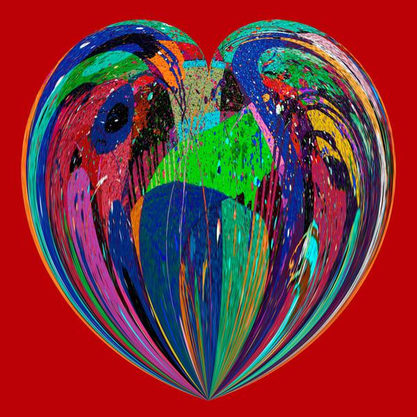 Heartfelt/Red Background/Merch Art | karenihirsch