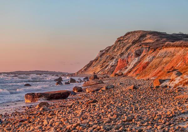 Gay Head Cliffs Winter Sunset Art   Michael Blanchard Inspirational Photography - Crossroads Gallery