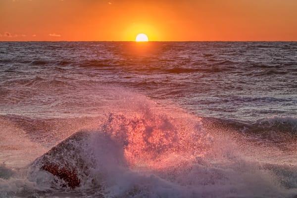 Moshup Beach Fiery Splash Art   Michael Blanchard Inspirational Photography - Crossroads Gallery