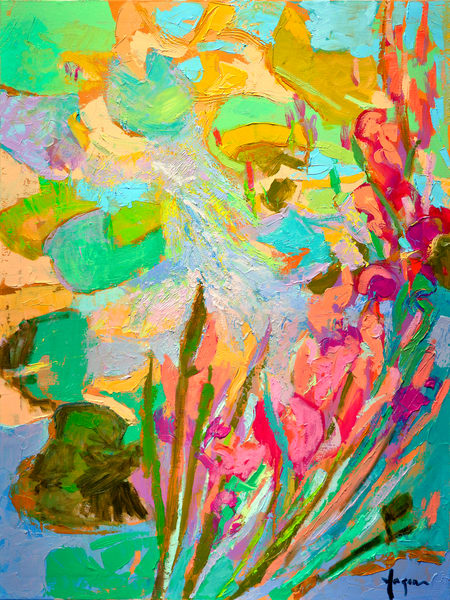 Oversize Canvas Floral Painting, Canvas Art by Dorothy Fagan