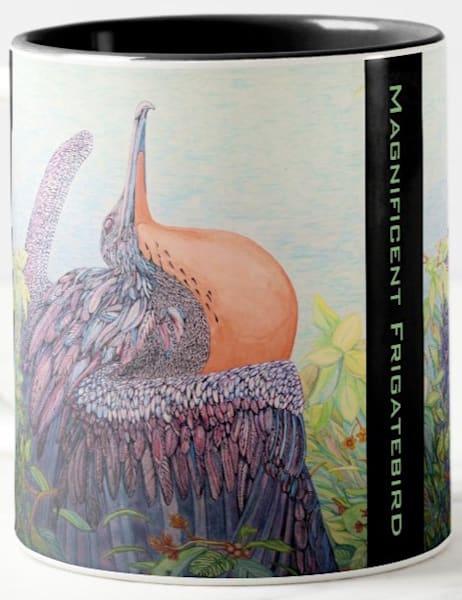 Magnificent Frigatebird art by Judy Boyd Watercolors on 11.oz ceramic mug