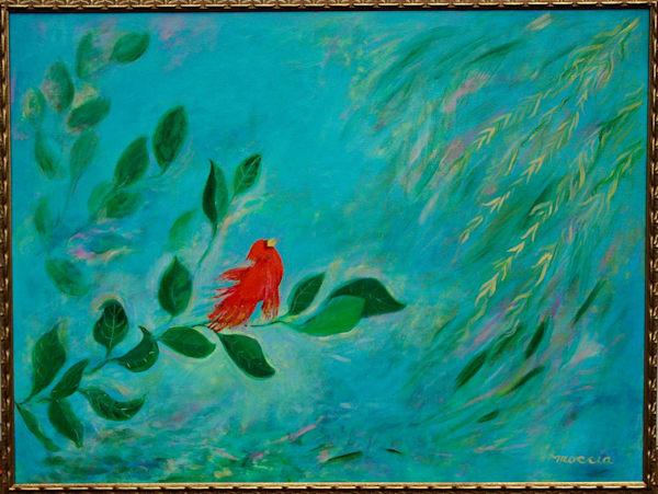 Red Bird Calling Art   Wild Ponies creations