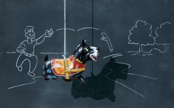 Fetch Wee Scottie Art | Richard Hall Fine Art
