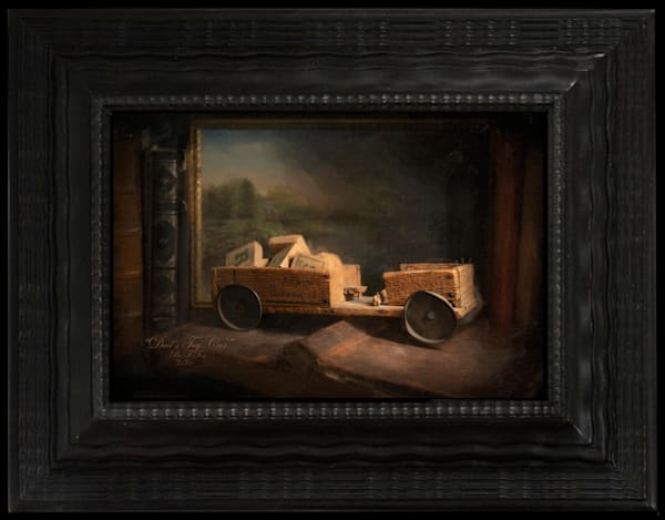 Dad's Toy Car, Limited Edition, Encaustic Painting, By artist Ben Fink,