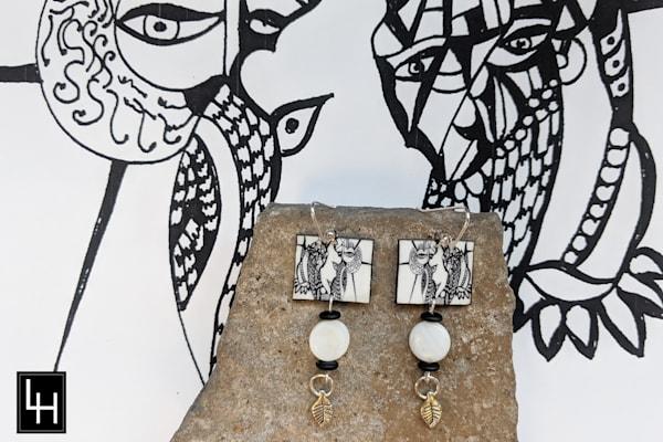 Face West No. 1 Earrings | Loree Harrell Art
