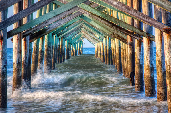 Under The Pier Photography Art | Willard R Smith Photography